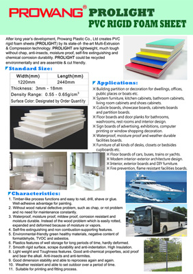 PVC rigid sheet supplier, PVC rigid sheet, PROLIGHT / PVC RIGID FOAM SHEET / CELUKA SHEET